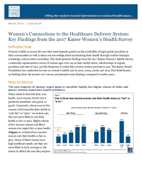Women's Connections to the Healthcare Delivery System: Key Findings from the 2017 Kaiser Women's Health Survey
