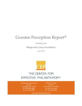Grantee Perception Report: Marguerite Casey Foundation