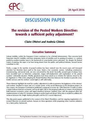 The Revision of the Posted Workers Directive: Towards a Sufficient Policy Adjustment?
