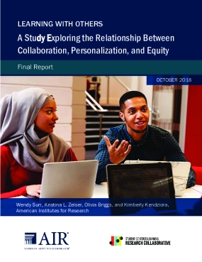 Learning with Others: A Study Exploring the Relationship Between Collaboration, Personalization, and Equity