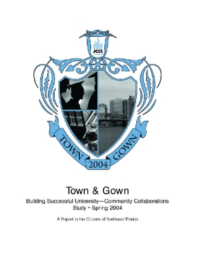 Town & Gown: Building Successful University - Community Collaborations