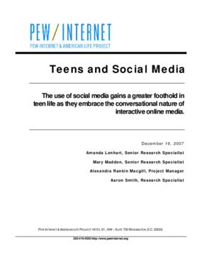 Teens and Social Media