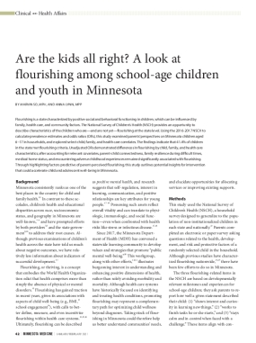 Are the Kids All Right? A Look at Flourishing among School-age Children and Youth in Minnesota