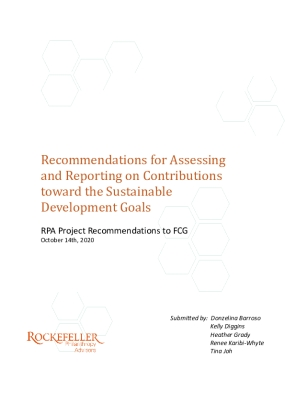 Recommendations for Assessing and Reporting on Contributions toward the Sustainable Development Goals