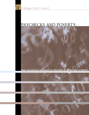 Paychecks & Poverty: Real Household Budgets of Welfare-to-Work Participants